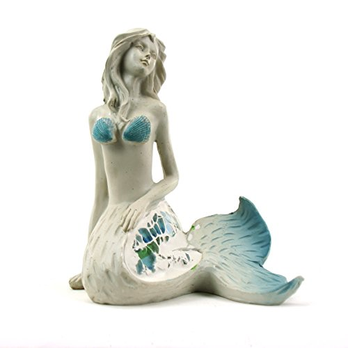 WonderMolly Aquatic Fantasy Collection Mermaid with Glass Decor ()