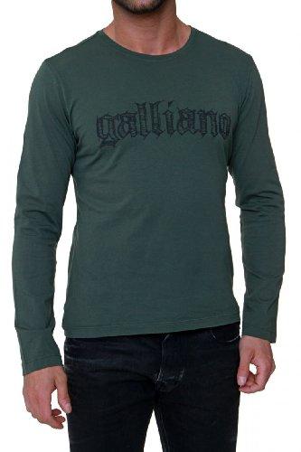 John Galliano Longsleeve Logo, Color: Army Green, Size: -