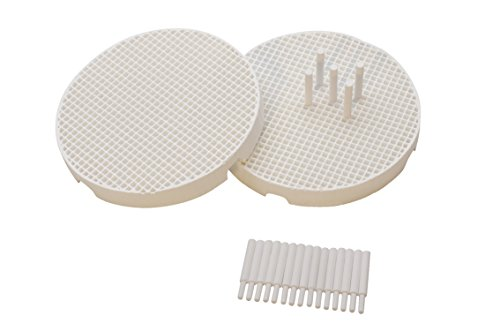 Set of 2 Mini Honeycomb Boards - Large Hole with 20 Ceramic 1.6 MM Pins Jewelry Making Repair Soldering Work Surface Tool