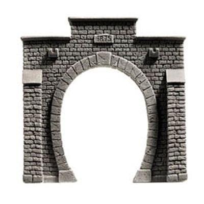 Noch 34851 Tunnel Portal Single Gray N Scale  Model - Scale Single Tunnel