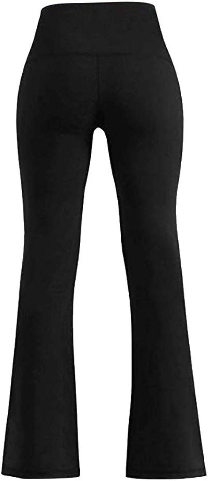 Amazon.com: Xavigio_Women Leggings High Waist Bootcut Wide ...