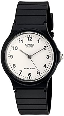 Casio Quartz Resin Casual Watch, Color:Black (Model: MQ24-7B)