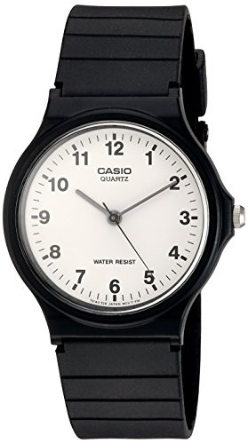 Casio Quartz Resin Casual Watch, Color:Black (Model: MQ24-7B) - Mens Quartz Black Resin