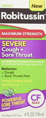 Cough & Sore Throat: Robitussin Maximum Strength Cough & Sore Throat