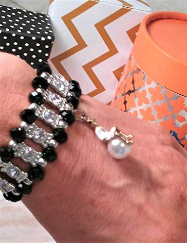 French CC.CHANELady Stretch Bracelet fashioned with Lady on Pearl Charm. Woman CharmCC.