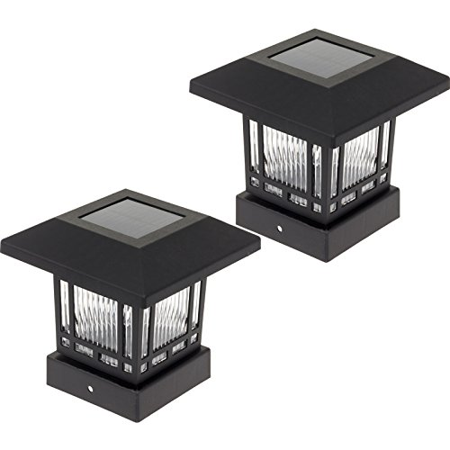 Westinghouse Eaton Solar 20 Lumens 4x4 Post Light for Wood Posts (Black, (4x4 Post Mount)