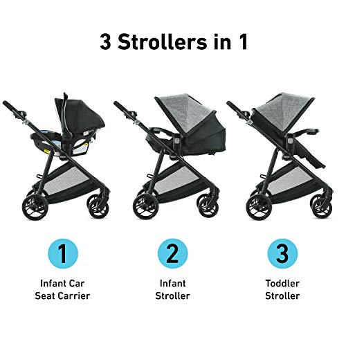 41MN7icF1IL - Graco Modes Element Travel System, Includes Baby Stroller With Reversible Seat, Extra Storage, Child Tray And SnugRide 35 Lite LX Infant Car Seat, Canter
