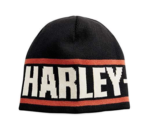 (Harley-Davidson Official Men's Reversible Knit Hat, Black)