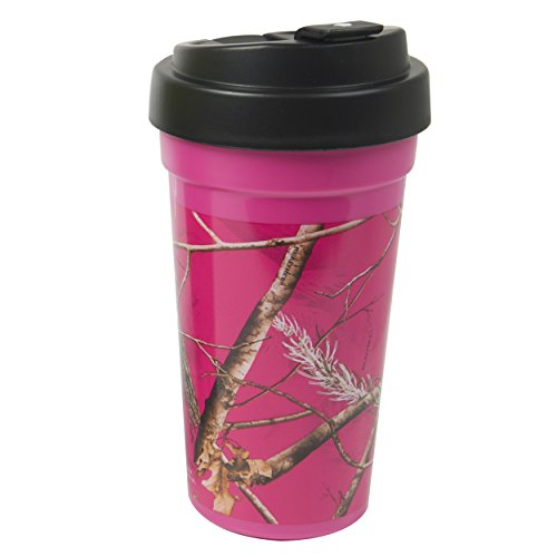 Cool Gear Coffee Realtree Travel Mug, 15 oz, Pink Camo