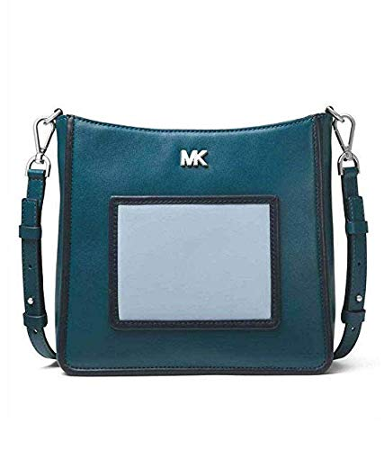 MICHAEL Michael Kors Gloria Tri-Color Leather Messenger in Luxe ()
