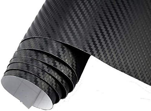 4 5 M 3d Carbon Folie Schwarz Blasenfrei Meterware 500 X 152 Cm Car Wrapping Auto