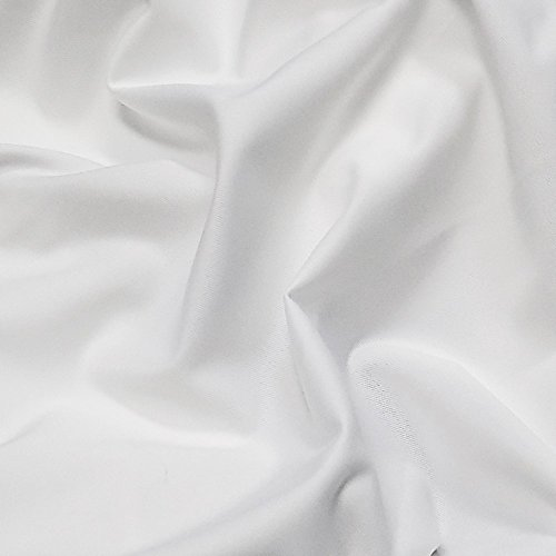 8 Ft. High x 5 Ft. Wide Premier Drape Panel (For Pipe and Drape Displays and Backdrops) - White Wide Back Panel