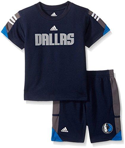 (NBA Toddler Dallas Mavericks Possession Tee & Short Set-Dark Navy-4T)