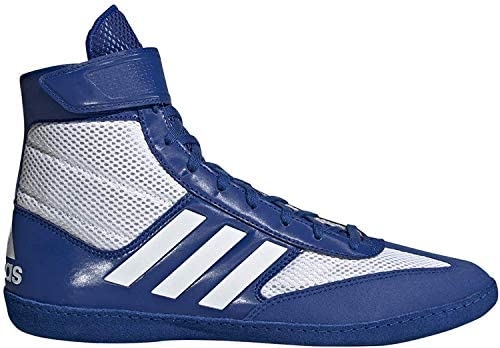adidas Combat Speed 5 Royal/White Wrestling Shoes 8.5