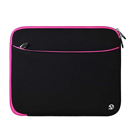 Neoprene Carrying Case Water Resistant Protective Sleeve [Pink] for UEME 10.1 Portable DVD CD Player