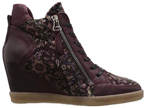 Miz Mooz Dames Adela Sneaker Aubergine-fluweel