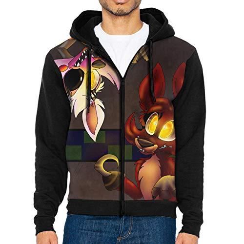 Mangle Foxy Five Nights at Freddy's Men's Full-Zip Hooded Sweatshirts Hoodies