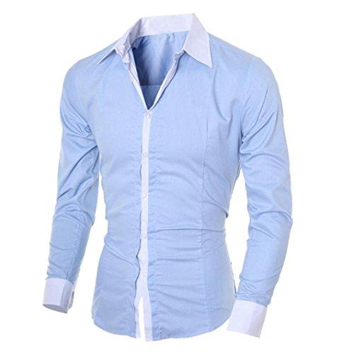 manga cl slim Camisa corte negocios larga hombre de Aimee7 para azul nvTRUXv