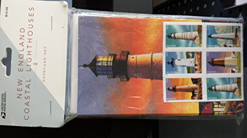 NEW ENGLAND COASTAL LIGHTHOUSE NOTECARD SET WITH 10 FOREVER STAMPS