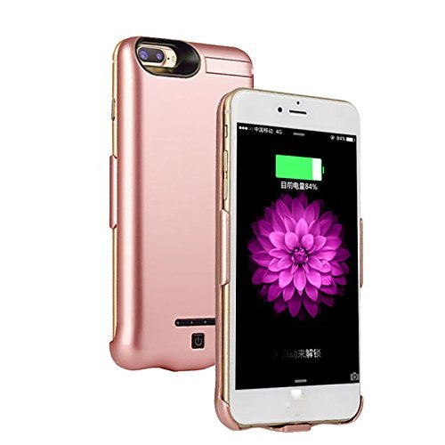 Iphone 8 Plus/7 Plus Battery Case Ultra Extended Backup Charger Power bank cover for iphone 8 Plus/7 plus 10000mAh (Rose Gold)