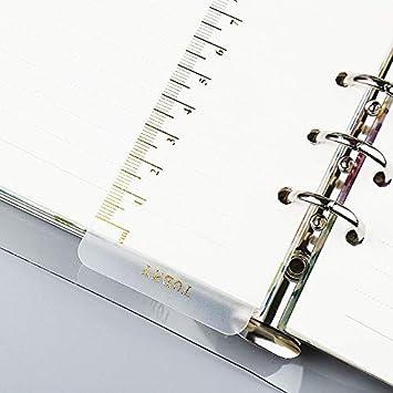 ZNXXJBCZ Marca Regla A4 B5 A5 A6 A7 Planificador de Agenda ...