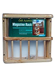 Camco 43411 Oak Accents Magazine Rack