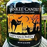 Yankee Candle Large Jar Happy Halloween Licorice Scent Candle 22 0z.
