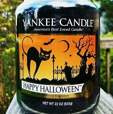 Yankee Candle Large Jar Happy Halloween Licorice Scent Candle 22 0z. (Happy Halloween Happy Halloween)