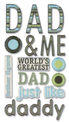 (Sticko 626562 Phrase Cafe Epoxy Stickers - Dad)