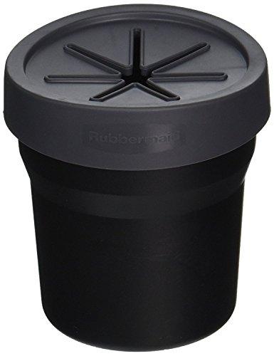 Rubbermaid 3316-00 Automotive Cup Holder Trash Can: Leakproof Car Garbage Bin/Waste Basket Organizer Caddy
