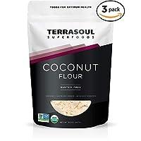 Harina de coco orgánica Terrasoul Superfoods, 6 libras