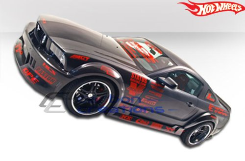 2005-2014 Ford Mustang Carbon Creations Hot Wheels Wide Body Side Skirts Rocker Panels - 2 ()