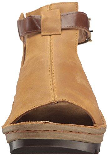 Leather Oily Dune Heel Sandals Low Nubuck Naot Brown Maple Verbena Women's WgwZxF1nvY