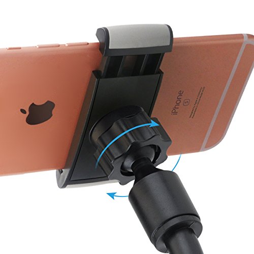 Car Mount, Universal Flexible Arm Windshield Car Phone Holder with Strong Suction Cup for iPhone X SE 7 Plus 6s 6 Plus 6 5s 5 4s 4 Samsung Galaxy S9 Plus S8 Note S7 Edge LG Nexus Sony Nokia and More by BeGear (Image #3)