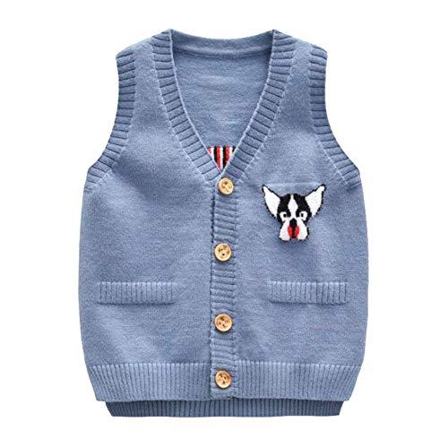 Performance Vest V-neck Sweater (Onlyso Toddler Little Boys Button Down Cardigan Sweater Vest (2T, Blue))