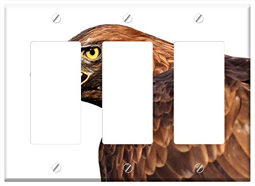 Switch Plate Triple Rocker/GFCI - Adler Raptor Bird Of Prey Animal Fly Noble Prey 1