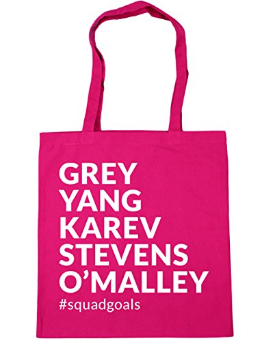 HippoWarehouse Grey Yang Karev Stevens O´Malley Squadgoals Bolso de Playa Bolsa Compra Con Asas para gimnasio 42cm x 38cm 10 litros capacidad Fucsia