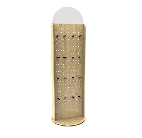 FixtureDisplays Two-Sided Pegwall Spinner Floor Rack Display -
