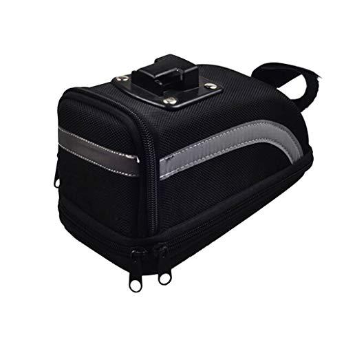 Gallity Bicycle Strap-On Bike Saddle Bag/Seat Bag/Rear Seat Saddle Tail Bag for Xiaomi Mijia EF1 (black)