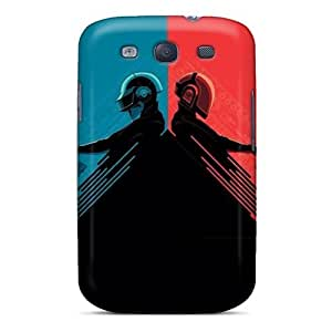 Premium Durable Daft Punk Red And Blue Fashion Tpu Galaxy S3 Protective Case Cover BY icecream design