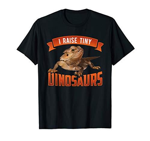 I Raise Tiny Dinosaurs Bearded Dragon Pet Reptile T-Shirt -