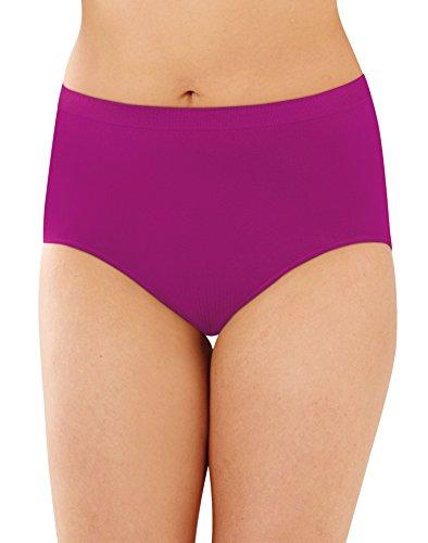 Bali Women's Comfort Revolution Microfiber Brief, Shadow Brown, 7 (Comfort Microfiber Brief Panties)