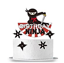 GmakCeder Happy Birthday Ninja Cake Topper