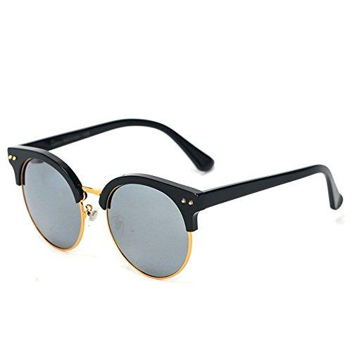 de Shop color gafas de y Gris marco Negro Marco femeninas medio de de de Gafas sol sol 6 Gafas sol película masculinas v4rv6q