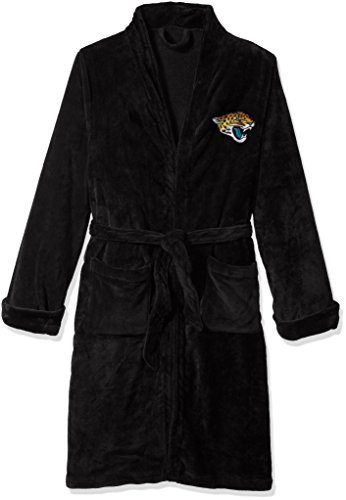 The Northwest Company Officially Licensed NFL Jacksonville Jaguars Men's Silk Touch Lounge Robe, -
