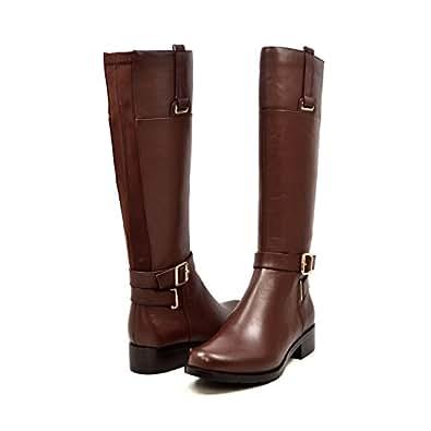 Solemani Gabi Women's Brown Leather Narrow Calf Riding Boot 6
