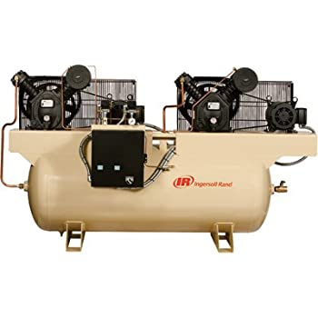 Ingersoll Rand Air Compressor - Duplex, 7.5 HP, 230 Volt 3 Phase, Model# 2475E7.5-V