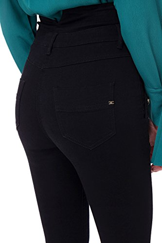 Elisabetta Donna Pj17s86e2 Alta Franchi Vita Nero Jeans Mod fwqfvr