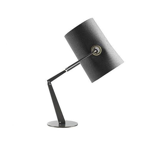 Lámpara De Mesa Negra con Brazo Ajustable Lámpara De Escritorio ...