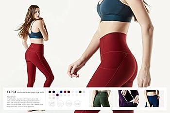 Tesla Tm-fyp54-red_small Yoga Pants High-waist Leggings W Side Pockets Fyp54 6